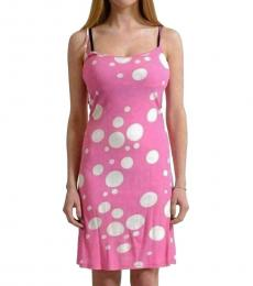 Versus Versace Pink  Polka Dot Sundress Dress