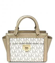 Michael Kors Vanilla Gold Tina Medium Satchel