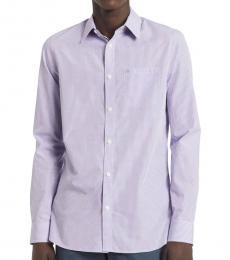 Purple Gingham Slim-Fit Shirt