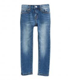 7 For All Mankind Little Girls Blue Super Skinny Jeans