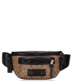 Coach Tan Signature Terrain Fanny Waist Bag