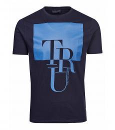 Dark Blue Graphic Logo T-Shirt
