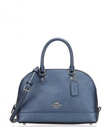 Metallic Navy Sierra Small Satchel