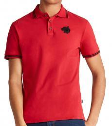 Red Mascot Logo Polo