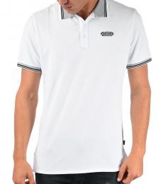 Just Cavalli White Stretch Cotton Polo