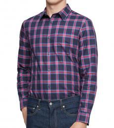 Barbados Cherry Slim-Fit Plaid Shirt