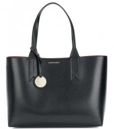 Black Solid Large Tote