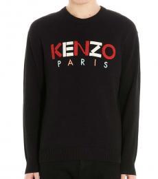Kenzo Black Logo Patch Sweater