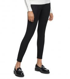 Calvin Klein Black Suede Stretch Ankle Pants