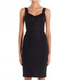 Black Gupierre Satin Dress