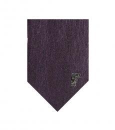 Versace Violet Medallion Tie