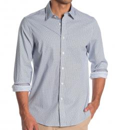Black Griff Geo Print Classic Fit Shirt