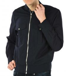 Neil Barrett Navy Blue Cotton Utility Jacket