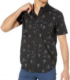 Black Mini Short Sleeve Woven Shirt