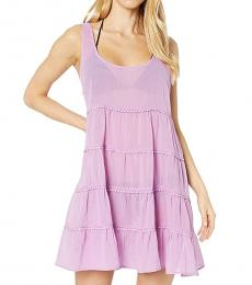 Candied Lilac Tiered Cover-Up Dress