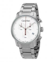 Calvin Klein Silver Chronograph Silver Dial Watch
