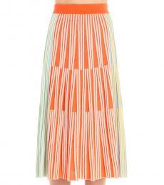 Multi color Striped Long Skirt