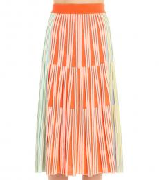 Kenzo Multi color Striped Long Skirt