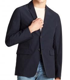 Theory Navy Blue Euclid Paper Nylon Jacket