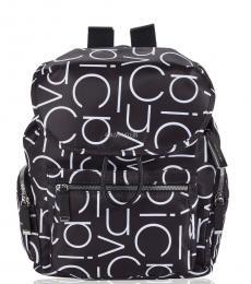 Calvin Klein Black Logo Kimberly Medium Backpack