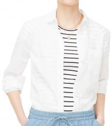 J.Crew White Linen-Cotton Shirt