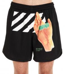 Off-White Black Hand Logo Shorts