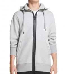 Grey Interlock Knit Hoodie