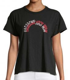 Rag And Bone Black Logo Vintage Crew T-Shirt