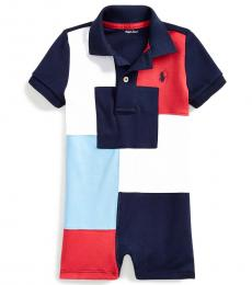 Ralph Lauren Baby Boys Multi Patchwork Polo Shortall