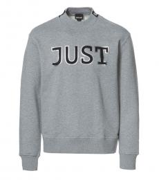 Grey Logo Solid Sweatshirt