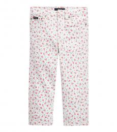 Ralph Lauren Little Girls Kimpton Wash Floral Wide-Leg Crop Jeans