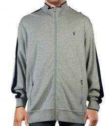 Ralph Lauren Grey Ribbed Trim Track Jacket
