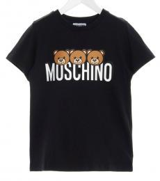 Moschino Little Girls Black Teddy T-Shirt