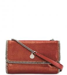 Stella McCartney Orange/Bronze Falabella Medium Shoulder Bag