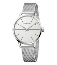 Calvin Klein Silver White Dial Watch