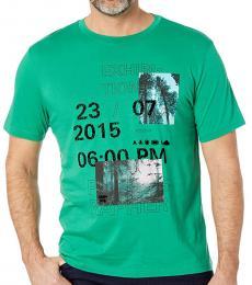 Hugo Boss Green Tomback Graphic T-Shirt
