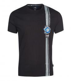 Cavalli Class Black Front Logo T-Shirt