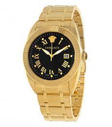 Versace Yellow Gold V-Sport II Watch