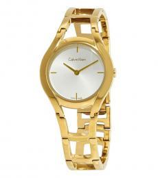 Calvin Klein Gold Class Silver Dial Watch