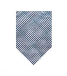 Teal Black-White Geometric Tie