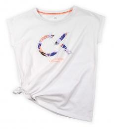 Calvin Klein Girls White Side Tack T-Shirt