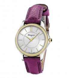 Salvatore Ferragamo Purple White Dial Watch
