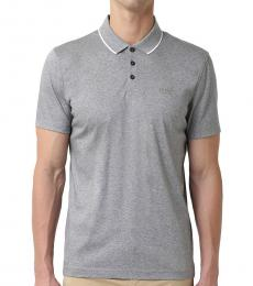 Grey Piket Regular Fit Polo