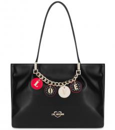 Love Moschino Black Love Charm Large Tote