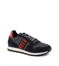 Bikkembergs Grey Red Iconic Sneakers