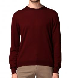 Fay Cherry Elbow Patches Sweater