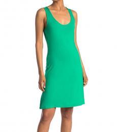 Calvin Klein Peppermint Scoop Neck Mini Dress