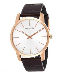 Calvin Klein Brown Round Dial Watch