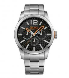 Hugo Boss Silver Paris Black Dial Watch