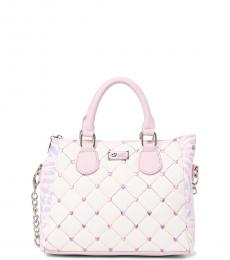 Betsey Johnson Light Pink Quilted Small Satchel